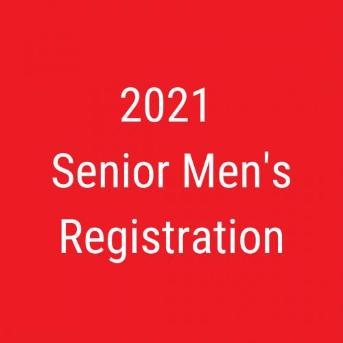 2021 Senior men's registration