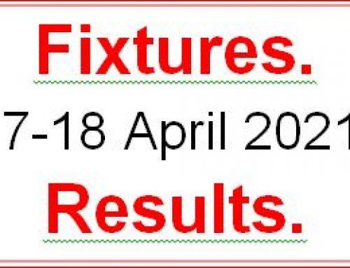 Fixtures 17 – 18 April 2021