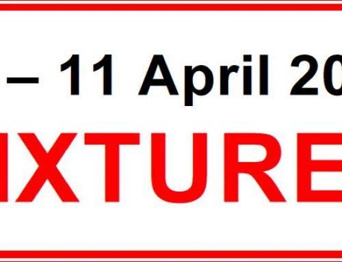 Fixtures 10 – 11 April 2021