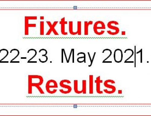 Fixtures 22 – 23  May 2021  Copy