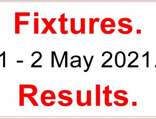 Fixtures 1  –  2  May 2021