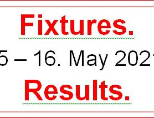 Fixtures 15  –  16  May 2021