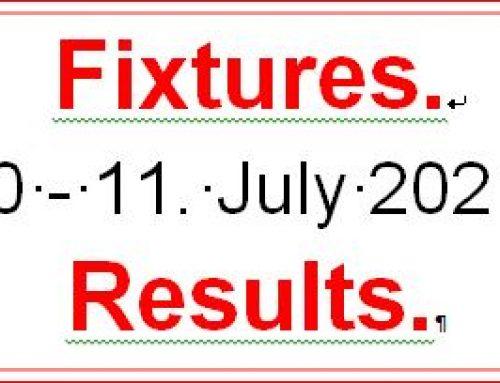 Fixtures 10 – 11 July 21
