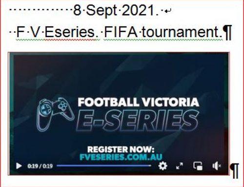 8 Sept 2021. F V Eseries FIFA tournament